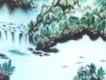 中国龙形山水画